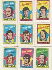 1971 72 Topps Booklets Set 1-24 Bobby Orr Gordie Howe Bobby Hull Clarke Dryden