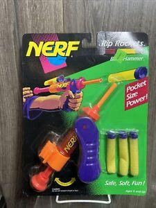 New & Sealed Vtg 1993 NERF Blast Hammer Rip Rockets Series RARE NOS
