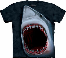 The Mountain Adult Unisex Graphic Tee, Shark Bite, X-Large