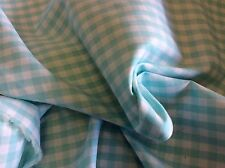 AQUA COTTON GINGHAM-60 INCH WIDE- BY THE YARD