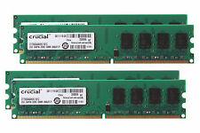 8GB 4X 2GB Crucial 2G 2RX8 PC2-6400 DDR2 800MHz DIMM RAM Desktop NON-ECC Memory