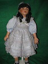 "26"" Porcelain Doll-1998-Donna Faville-Anika-Blue Dress-#396 of LE2000-EC"