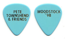 The Who Pete Townshend Woodstock 1998 Light Blue Guitar Pick - 1998 Tour