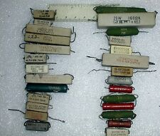 Lot 27 Used Power Resistors 1 to 5.6 Kohm 2 to 15 W Ceramic Metal Film Wirewou