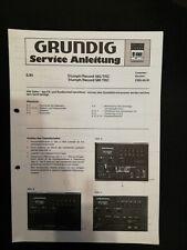 Original Service Manual Schaltplan Grundig Triumph Record 480/TRC 580/trc CBS40