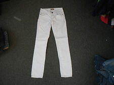 """Next Skinny Jeans Size 6R Leg 30"""" White Faded Ladies Jeans"""