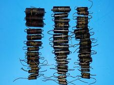 LARGE LOT OF 51 VINTAGE SPRAGUE BLACK BEAUTY CAPACITORS TUBE AMPLIFIER BUILDING