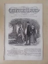 ANTIQUE VICTORIAN THE LEISURE HOUR MAGAZINE PAPER No 1100 JANUARY 25th 1873
