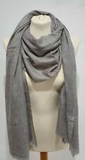 Cashmere Wool Scarf Mongolian Headscarf Shawl Fine Wrap Stole Ladies Soft Grey