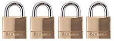 Master Lock 4 Pack Keyed Alike Solid Brass Wide Security Shackle Padlocks
