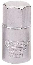 Genuine Draper 17mm hexagonal impulsor cuadrado de 3/8 Llave Tapón de Drenaje | 38323