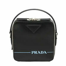 PRADA 2VH068 Men's Bandoliero Black Leather Crossbody Bag