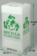 Commercial / Personal Recycle Bin, Corrugated Plastic, 44 Gallon 38x20x17