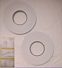 2x Draught Excluder Foam Weather Strip Tape Seal Doors Windows Draft Insulation