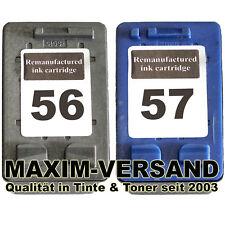 2x XL Drucker-Patronen-SET für PSC 1300 Series 1310 1312 HP 56 Black HP 57 Color