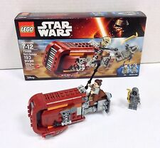 Lego Star Wars Rey's Speeder 75099 100% Complete w Box And Manual