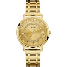 AUTHENTIC GUESS LADIES' MONTAUK WATCH GOLD TONE RRP:$329 W0933L2 Brand New
