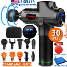 Muscle Massage Gun 30 SpeedDeep Tissue Body Handheld Percussion with 10 Heads
