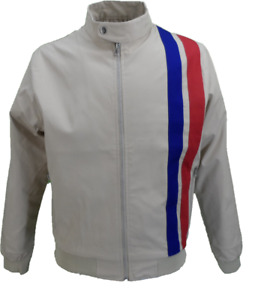 Real Hoxton Mens Beige Rally Jacket Jackets