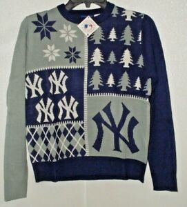 MLB New York Yankees Busy Block Ugly Sweater Youth Size Youth X-Large by FOCO
