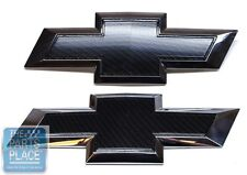 2014-15 Chevrolet Silverado Carbon Fiber Grille & Tailgate OEM Emblems