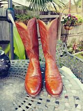 HANDSOME LUCCHESE OSTRICH  size 9D NEAR PERFECT CONDITION
