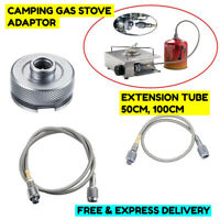 Gas Stove Burner Adaptor Extension Tube Converter Connector for Outdoor Camping