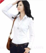 Long Sleeve Smart white dress Shirt Turn down-collar for Women,s
