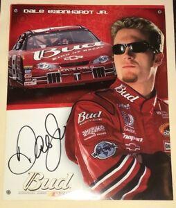 Dale Earnhardt Jr signed 8x10 2002 BUDWEISER #8 CHEVY MONTE CARLO DEI photo