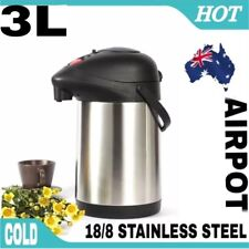 Airpot Stainless Steel Insulated Vacuum Flask Air Pump Pot Hot & Cold