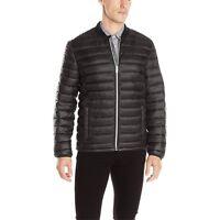 Calvin Klein Men's Baseball Collar Packable Puffer Full Zip Jacket Black