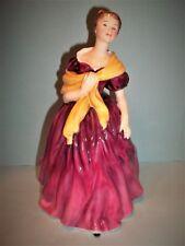 "Royal Doulton Adrienne Figurine 1963 Hn 2152 8"" Tall~Dark Pink~ Mint Condition"