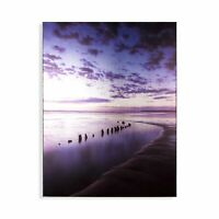 Art for the Home Metallic  Serenity Shores Printed Canvas (Was £40)