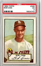 1952 Topps Bob Cain #349 PSA 3 HS51