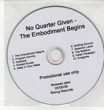 (DN324) No Quarter Given, The Embodiment Begins - 2008 DJ CD