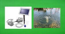 solare aeratore da stagno con Batteria Pompa Ossigeno giardino NUOVO