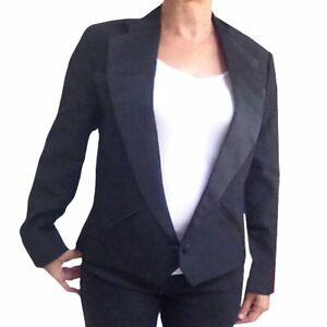 Womens Western-Style Cropped Texas Tuxedo Jacket Black