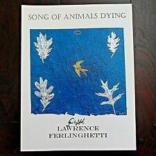 New listing Ferlinghetti,Allen Ginsberg,Kerouac-Signed Broadside 1/26 Original Art Tipped In