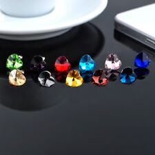 10PCS Mixed colours of Crystal Heart Beads Earphone Dust Plug