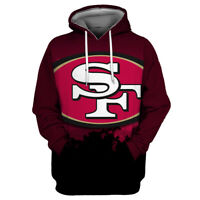 San Francisco 49ers Hoodie Men's Pullover 3D Print Sweatshirt Hooded Jacket Coat