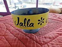 Ancien présentoir de mercerie en tôle-meuble vintage JALLA/griffe jaune 1970