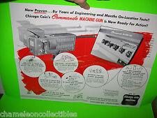 COMMANDO MACHINE GUN By CHICAGO COIN 1958 ORIGINAL RARE FOLD OUT FLYER BROCHURE