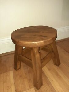 Rustic Wooden Milking Stool, Footstool, Plant Stand