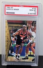 1994 UPPER DECK SP # 100 Harold Miner PSA 10 GEM MT PSA # 21447768  2 PSA 10s