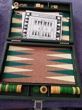 Vintage Travel Set Backgammon Game