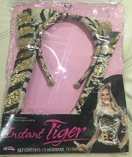 Tiger Headband & Tail Instant Animal Halloween Costume Accessory 2-Piece Set