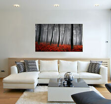 Autumn leaves print on canvas, forest wall art leaf  1 panel canvas print