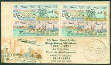 Vietnam South FDC 1951-1971 Air Viet Nam 20 ans de developpement
