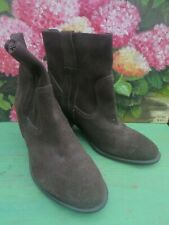 White Stuff Suede Ankle Boots Size 5 BARONESS Bitter Chocolate , Retail £75