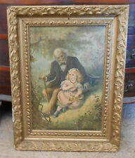 """Antique Framed 1873 Chromolithograph by Armstrong Boston Mass. 21"""" X 16"""""""